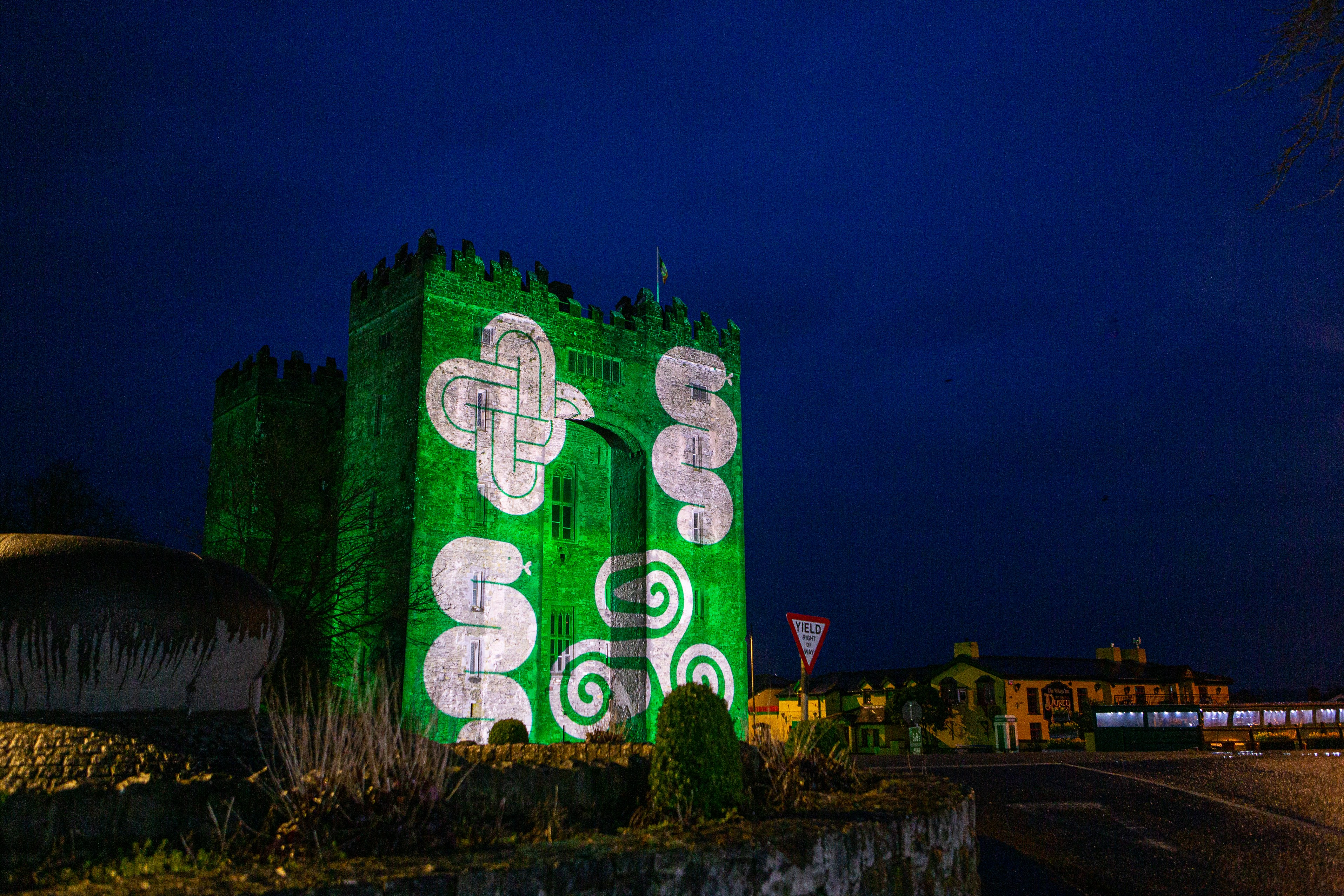 Shannon Group buildings light up Green for St Patrick's Day Image